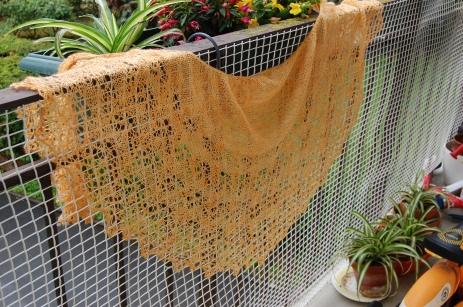 Modèle Fragile Heart par Boo Knits, laine (Vi)laine rêveuse coloris dans les plaines d'automne.